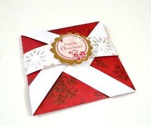 Pop Up Card - How to Make Pinwheel Folding Card for Christmas