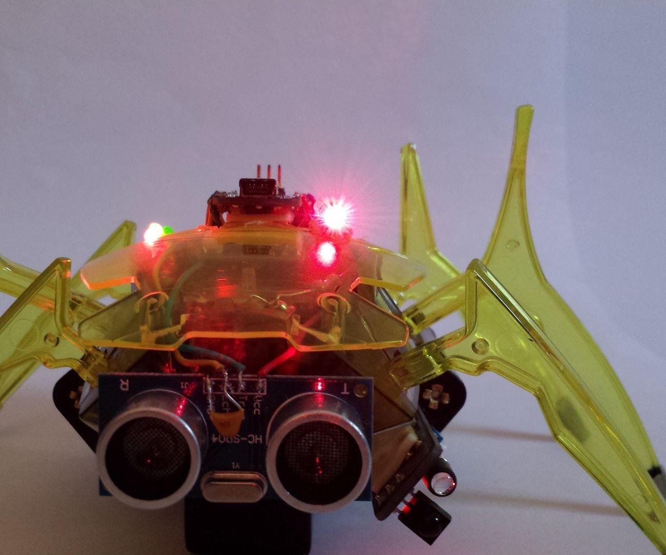 Arduino Nano based Hexbug Scarab Robotic Spider