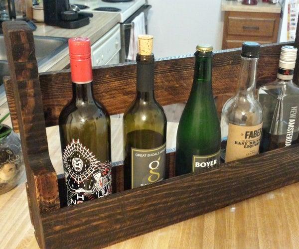 DIY Reclaimed Pallet Shelf/Bottle Rack