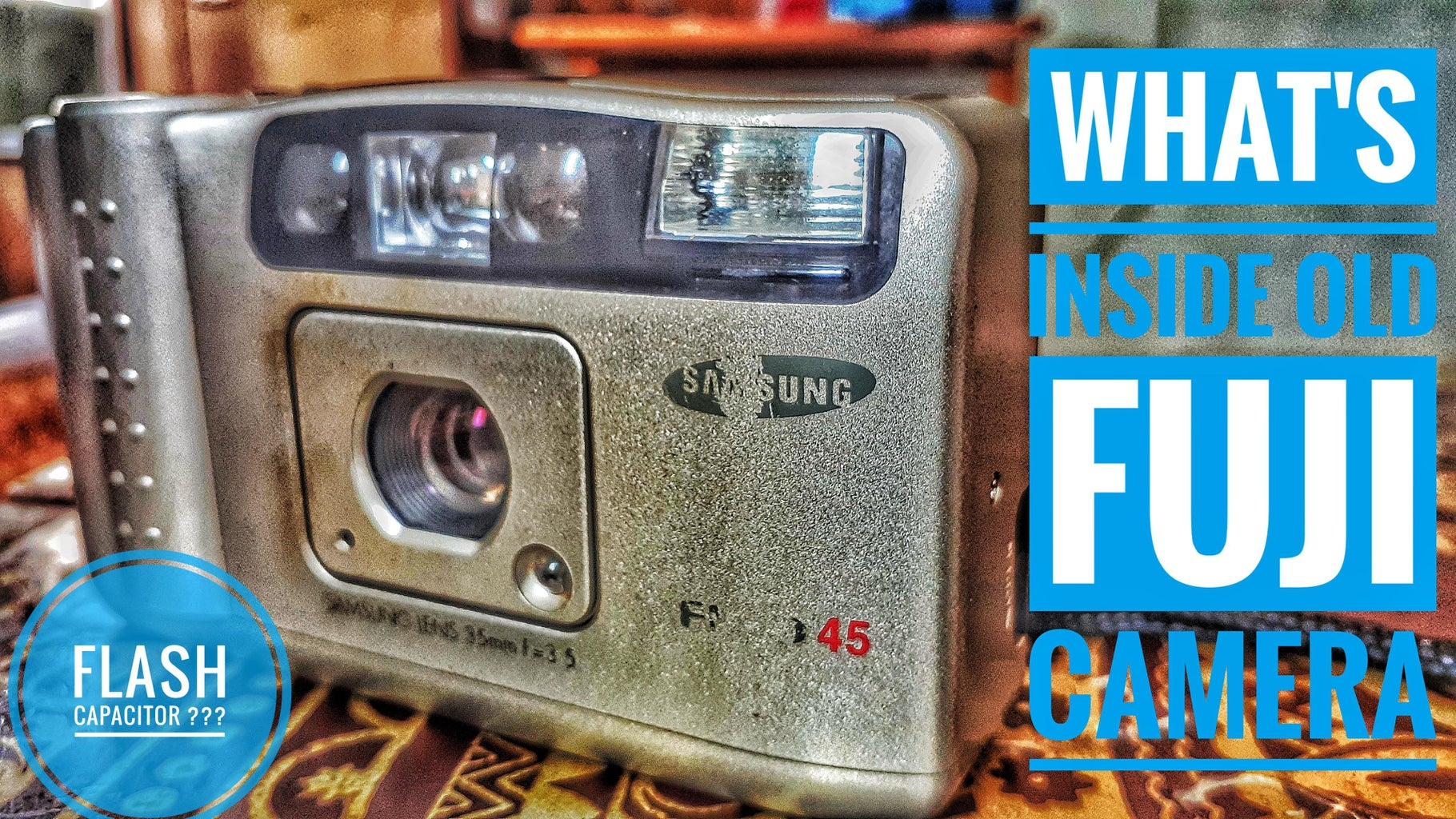 HOW DOES FUJI CAM WORKS ??FLASH CAPACITOR??