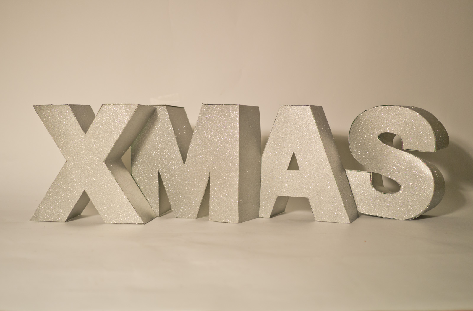Big Blocky Christmas Letters