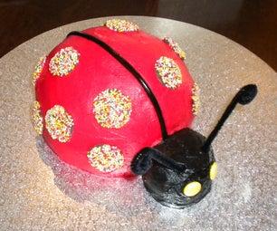 Ladybird Birthday Cake & Cupcakes