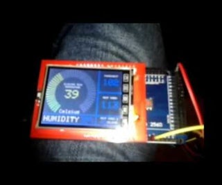 ARDUINO - SPFD5408 TFT LCD 2.4 TEMP and HUMIDiTY Monitor. Fahrenheit & Celsius!