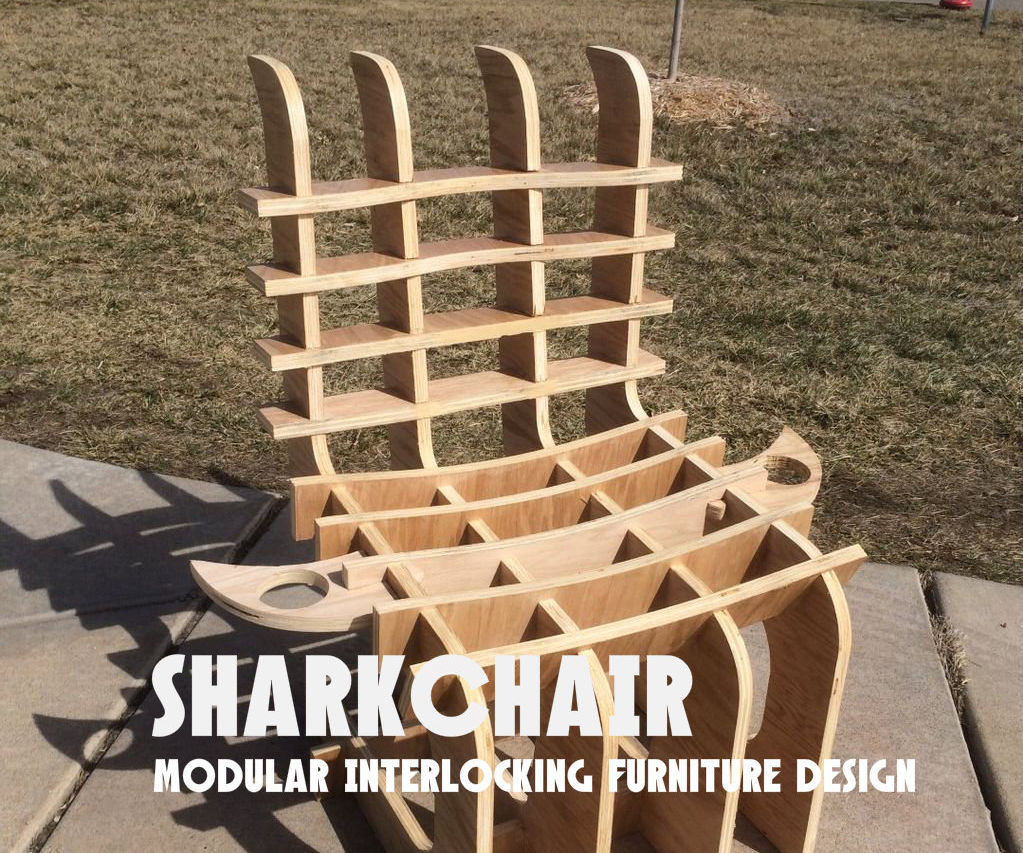 SHARKCHAIR: Modular Interlocking Furniture Design