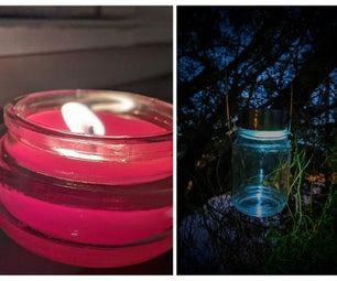 DIY: Upcycled Candle Jar Solar Light