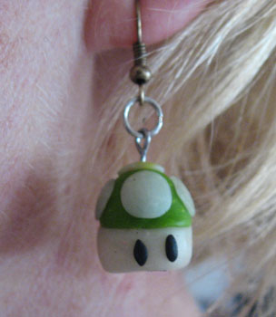 Mario bros earrings