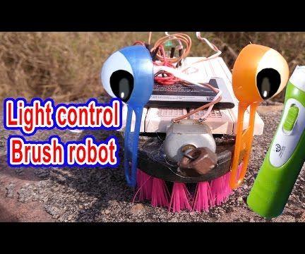Light Control Brush Robot