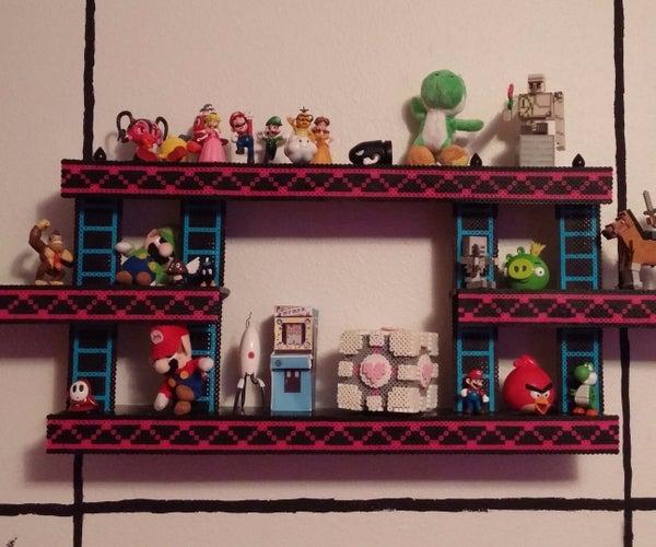 Donkey Kong Shelf With Perler Beads