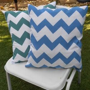 Spray Painted Cushions