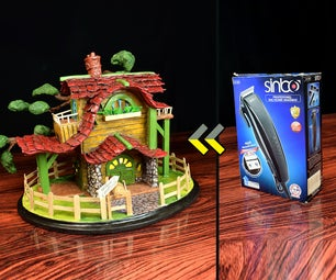 Rustic House Lamp Using Cardboard Box