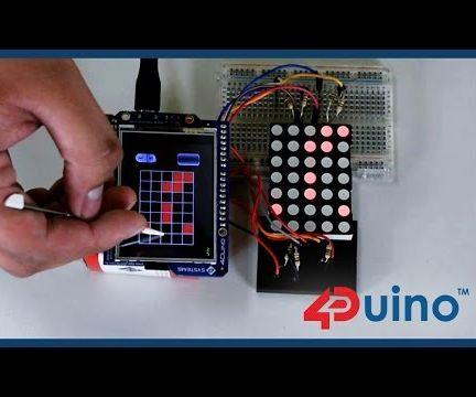 LED Matrix Controller Using 4Duino