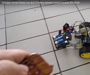 VISUINO Smart Robot Car 315mhz Remote Control Module XD-YK04