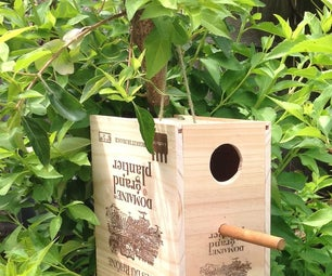 Wine Box Birdhouse