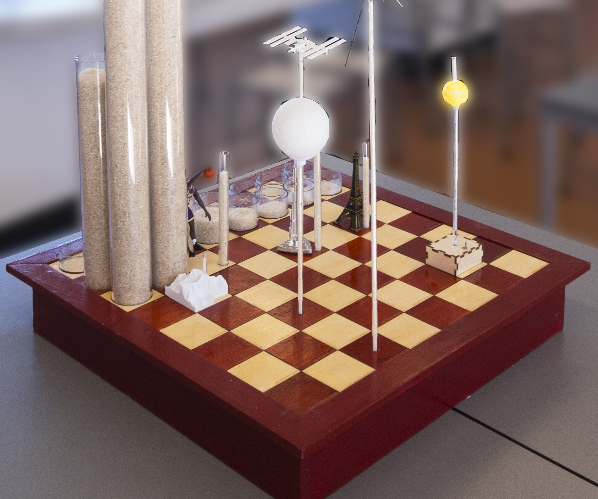 Chess Board Full of Rice: Exponential Growth