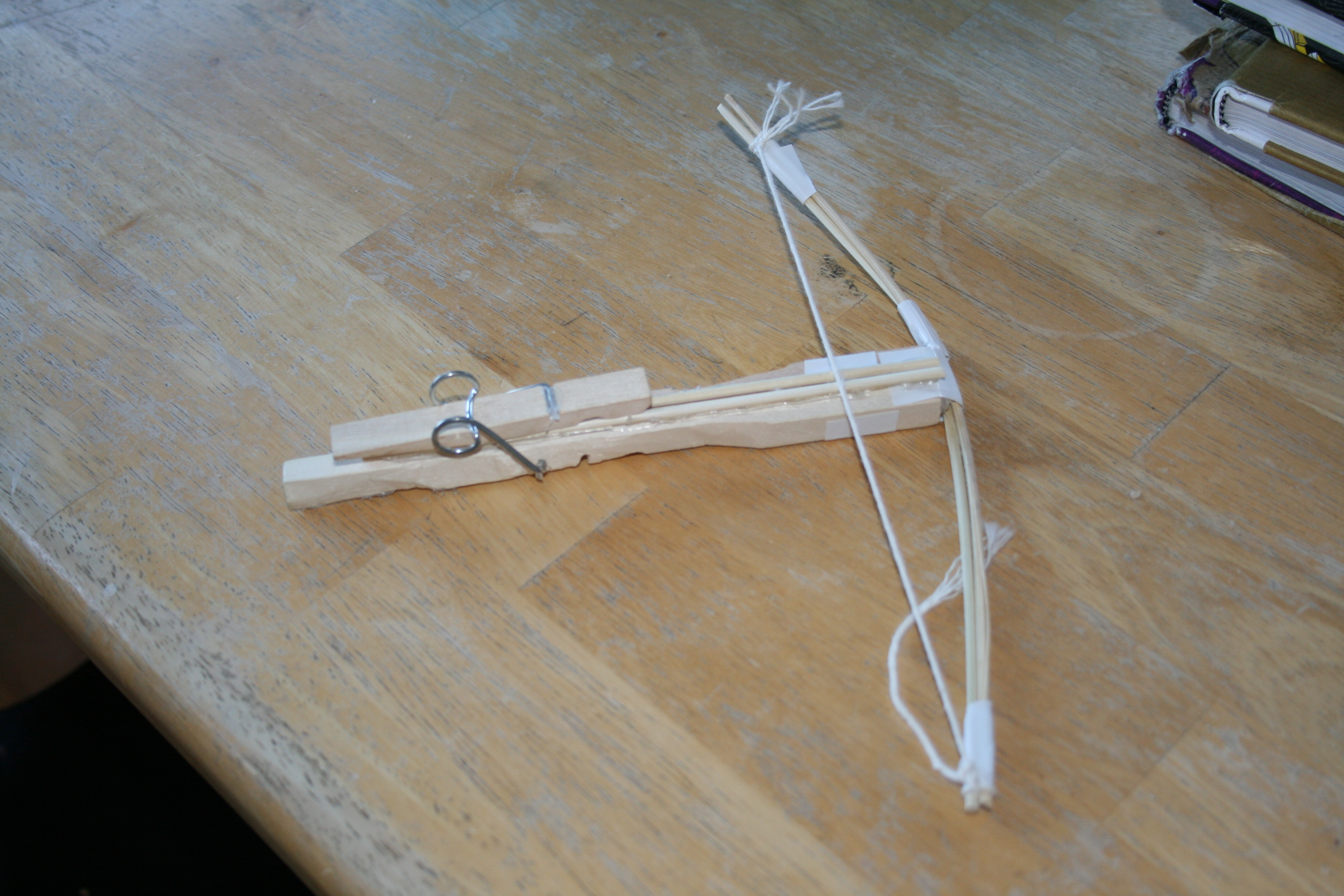 how to make a mini wooden crossbow