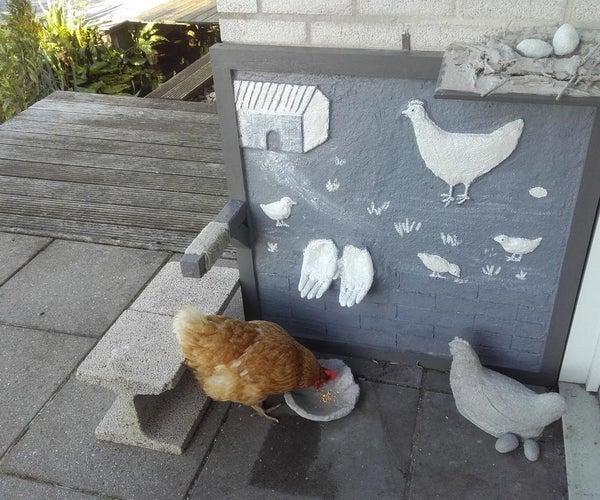 几种使用水泥制作混凝土鸡的方法