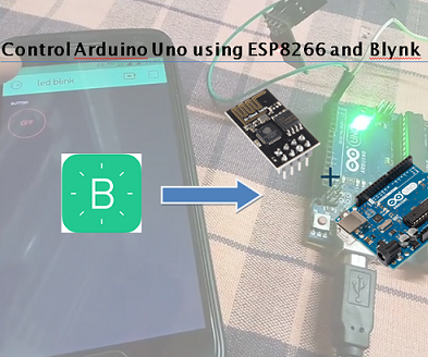 Control Arduino Uno Using ESP8266 WiFi Module and Blynk App