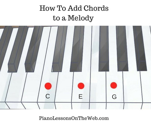 How to Add Chords to a Melody on the Piano