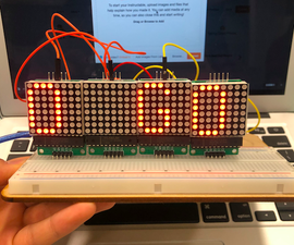 LED MAX7219 Red Dot Matrix Module With Arduino
