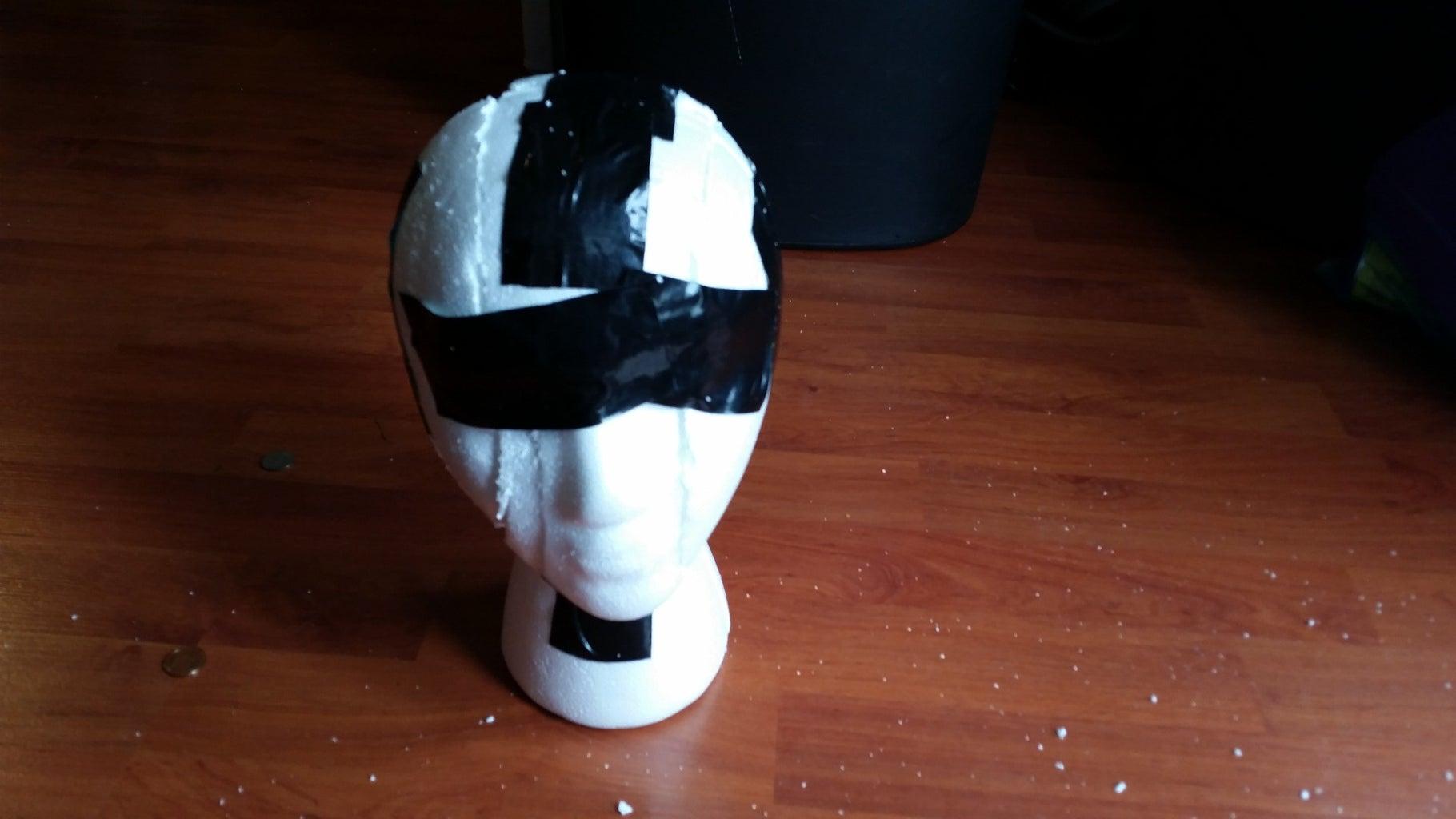 Cut Styrofoam Head