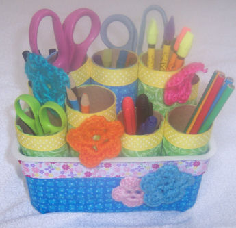 Fabric Covered Pen Caddy