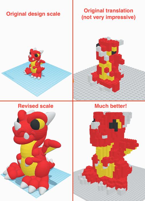 Adjusting Your Design - Tip 2: to Conserve Bricks, Work Big!