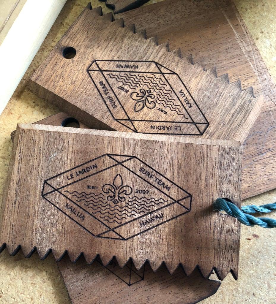 Laser Cut Surfboard Wax Comb