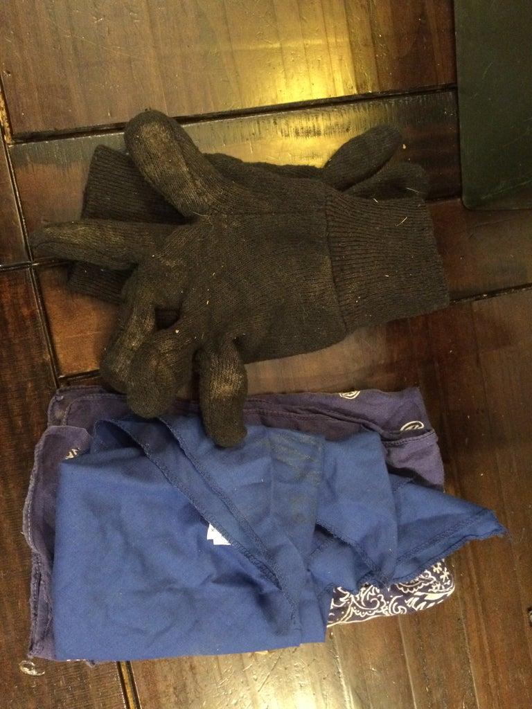 Extra Gloves and Bandanas