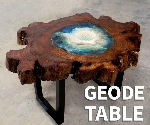 Wood & Resin Geode Table