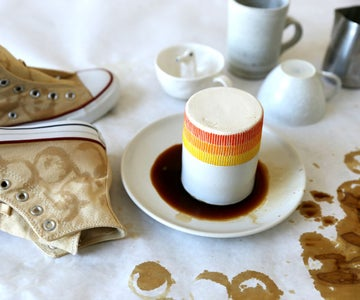 Stamping With Coffee