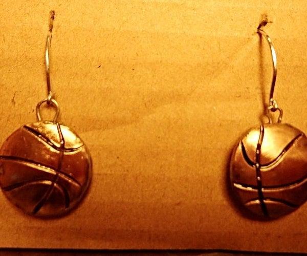 4 Cent Basketball Earrings