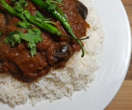 Incredible Aubergine Madras Using Indian Restaurant Curry Base