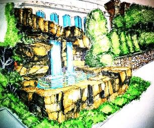How to Draw Beautiful Waterfalls