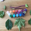 Colored Leaf Necklace