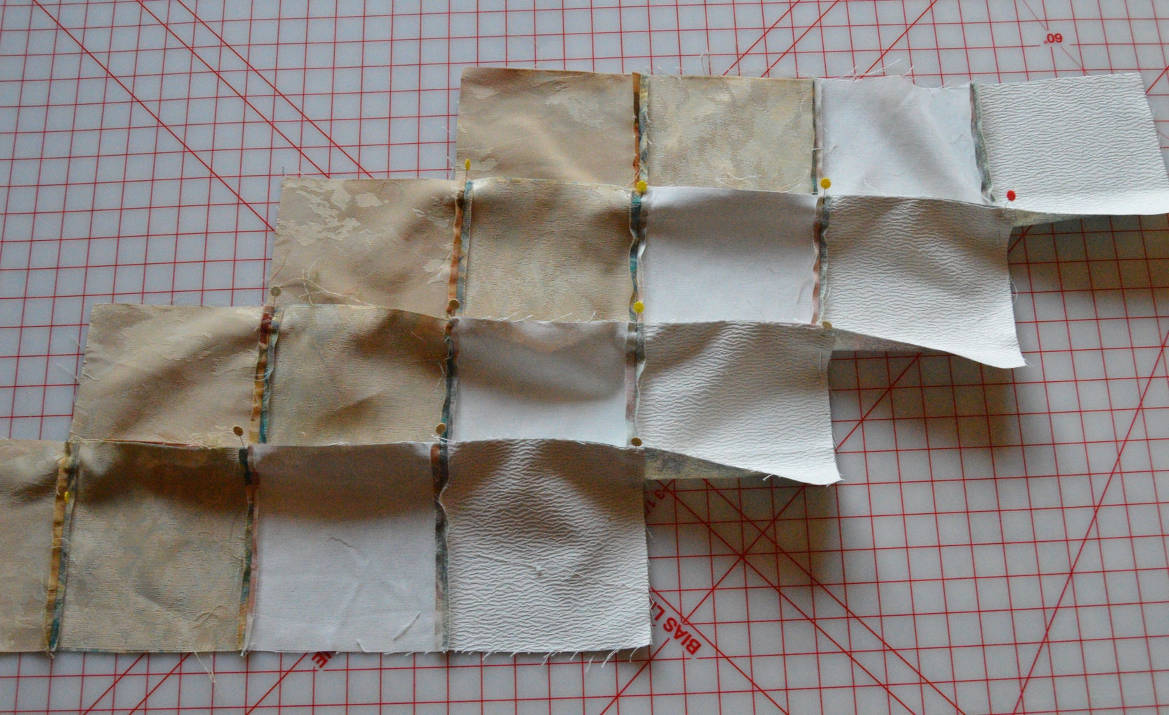 Pin and Sew Rows Together
