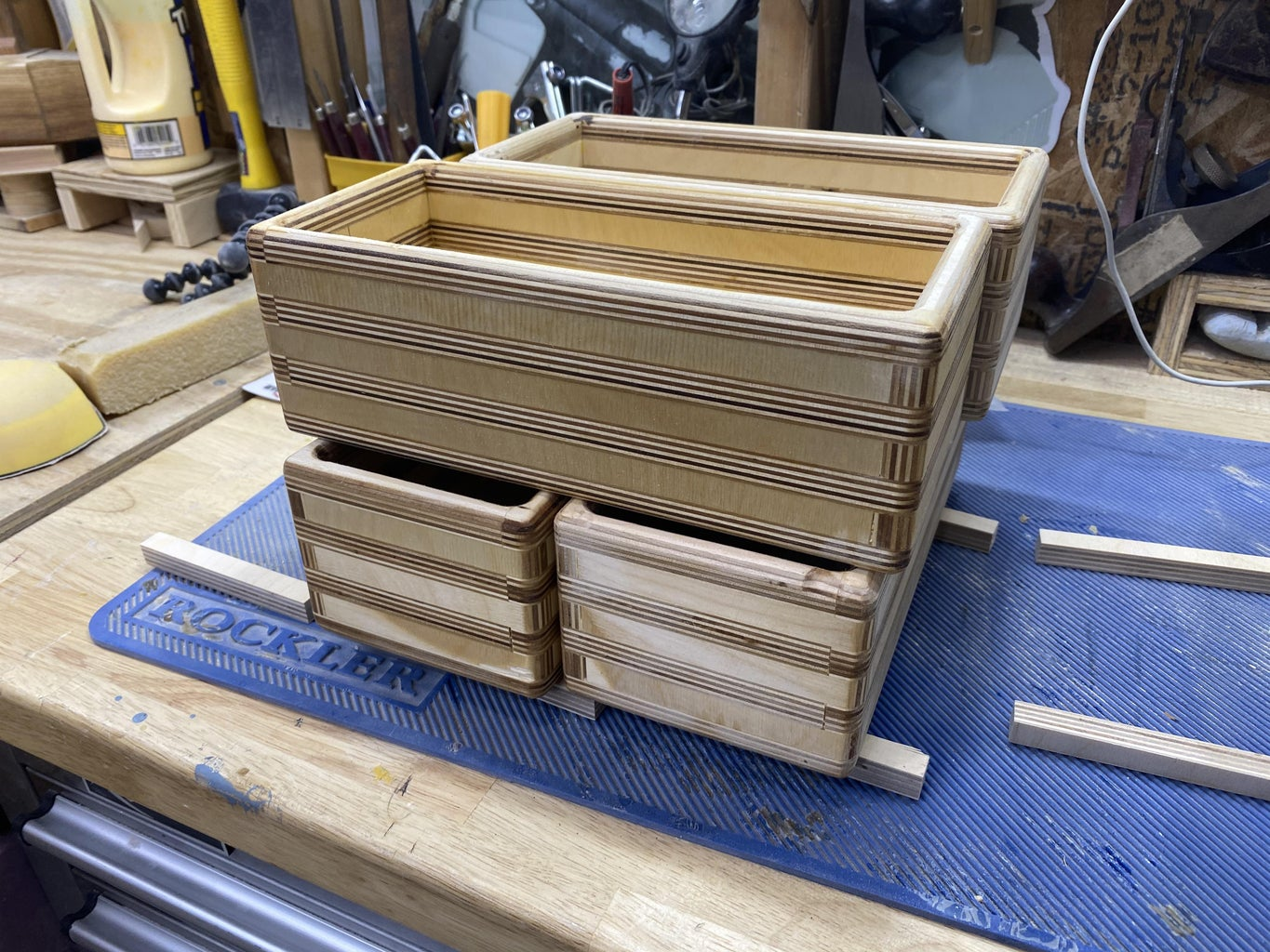 Patterned Plywood Boxes With No Jig Box Joints