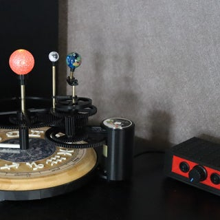 Sun, Earth and Moon Model (Tellurion / Orrery) With 3D Printed Parts