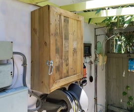 Backyard Cabinets From Recycled Materials