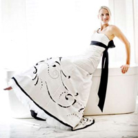 Laser Cut Wedding Dress