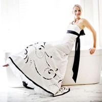 Laser Cut Wedding Dress