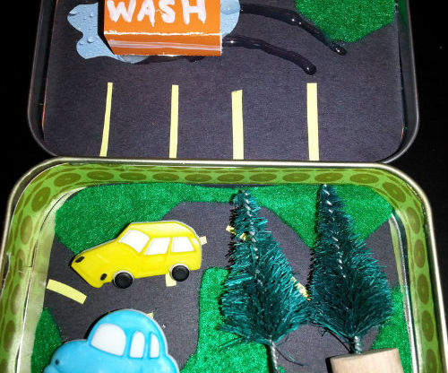Car Wash Toy From Altoids Tin