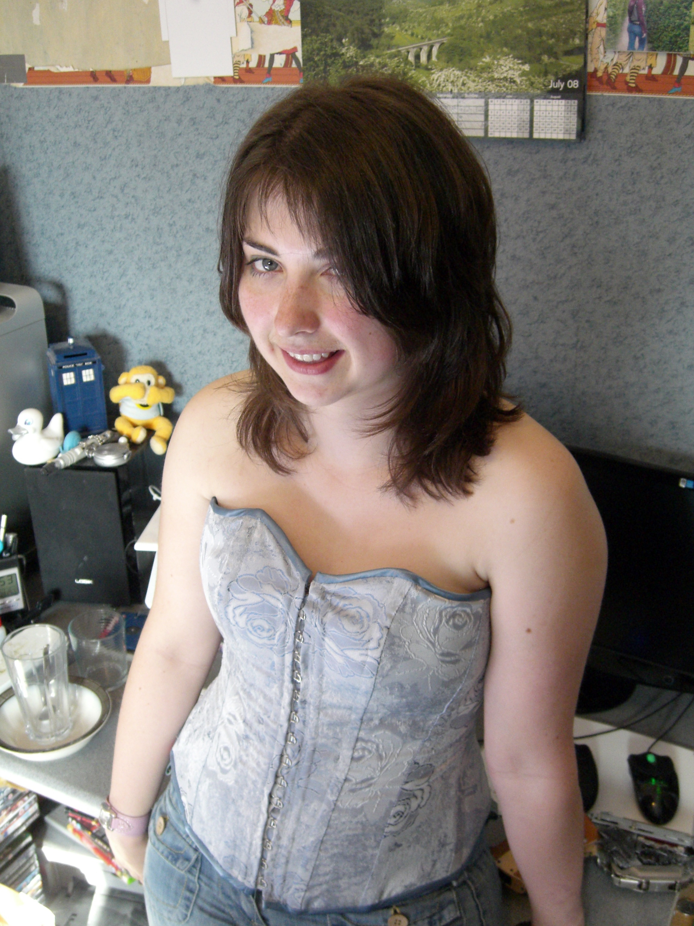 My first corset - Victorian style!
