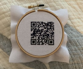 How to Cross Stitch a QR Code