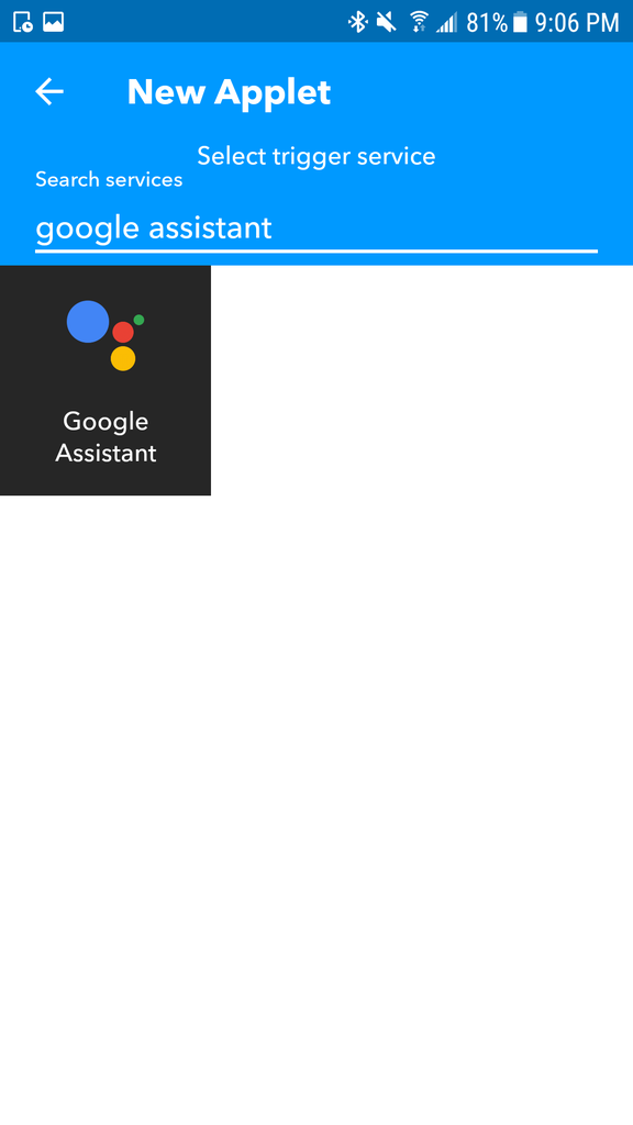 IFTT and Google Home Integration
