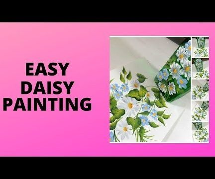 EASY DAISY PAINTING