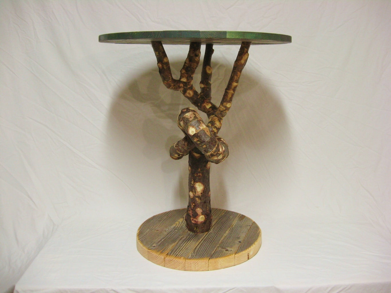 Knotted Tree Table (from Old Christmas Trees)