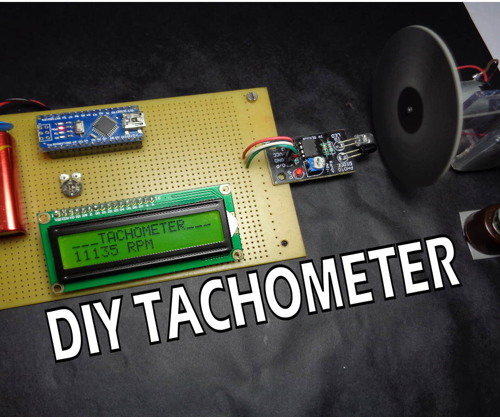 Ho to Make Arduino Based Digital Tachometer Simple DIY Tutorial