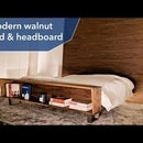 Modern Walnut Bed & Headboard   DIY