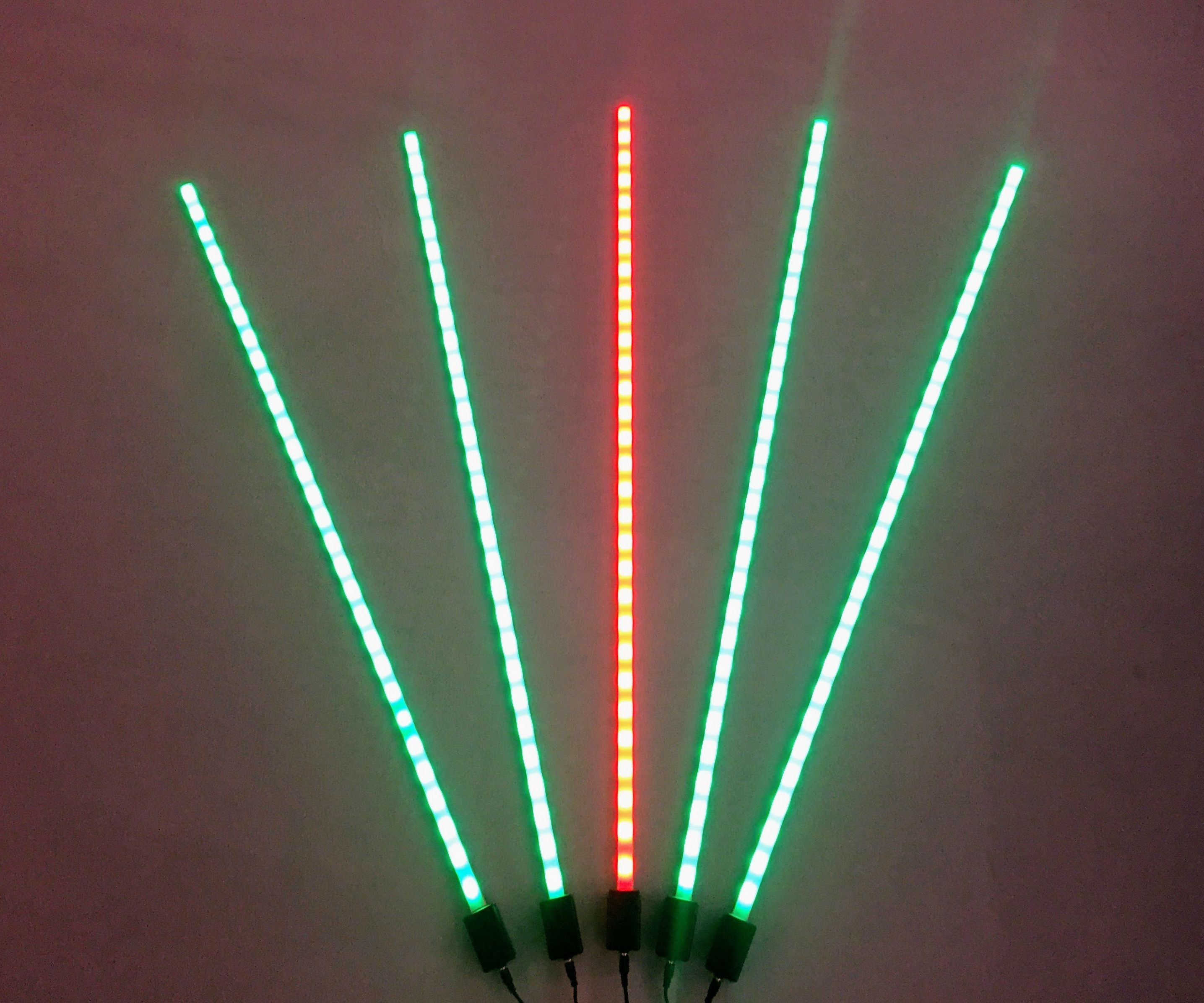 WiFi Mesh Synchronized LED Bars