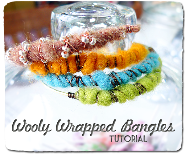 Wooly Wrapped Bangles